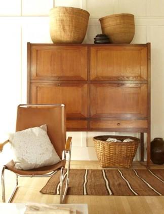decoration intérieure inspiration ambiance vintage camel et beige