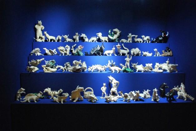 Homemyhome décoration intérieure inspiration scénographie d'un bestiaire animaux en faîence art brut expo LAM