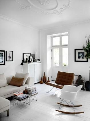 Home myhome décoration intérieure inspiration living blanc mix& match design charles eames