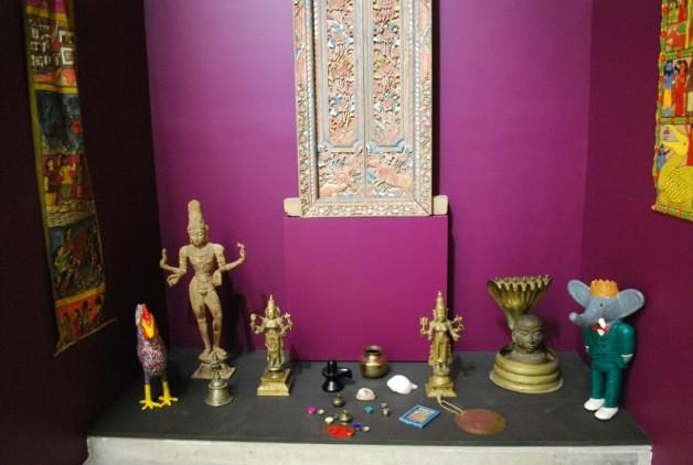 Homemyhome, décoration intérieure cabinet de curiosité indo-européen à l'expo du Lam